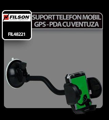 Suport telefon mobil, PDA, GPS cu ventuza Filson
