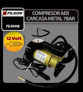 Compresor aer carcasa metal 12V Filson