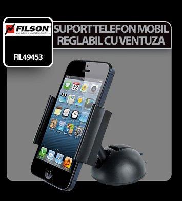 Suport telefon mobil reglabil cu ventuza Filson