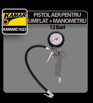 Pistol aer pentru umflat cu manometru Kamar
