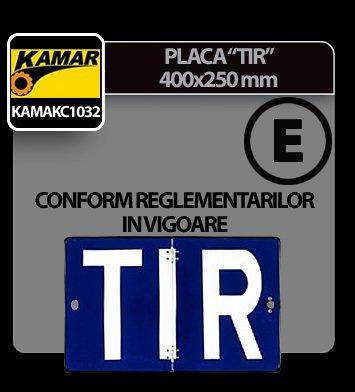 Placa identificare TIR 400x250mm Kamar