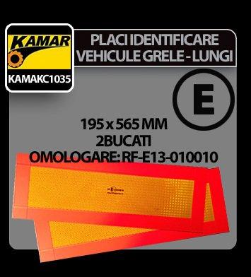 Placi identificare vehicule grele-lungi (contur) 2buc Kamar