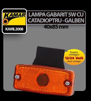 Lampa gabarit catadioptru galben Kamar 5W sofit - 12/24V