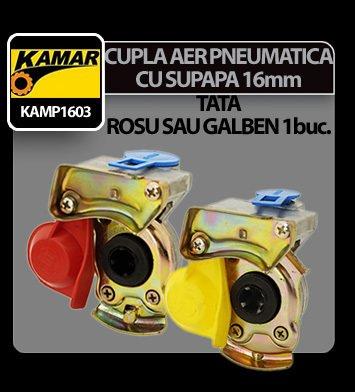 Cupla aer pneumatica cu supapa 16mm Kamar - Tata