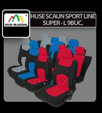 Huse scaun Sport Line+ Super L 9buc - Gri