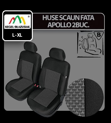 Huse scaun fata Apollo 2buc Lux Super Airbag - Marimea L