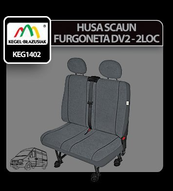 Husa scaun furgoneta de transport Elegance DV2-L 2Locuri