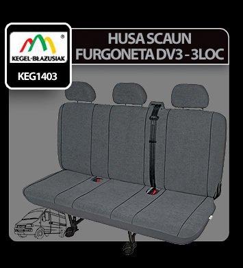 Husa scaun furgoneta de transport Elegance DV3 - 3Locuri