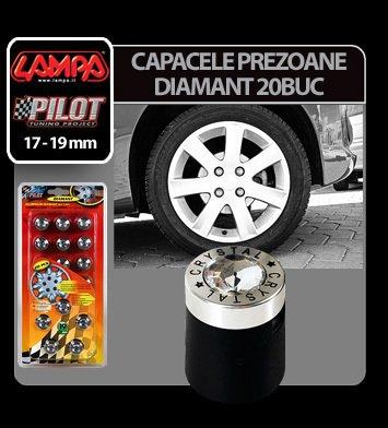 Ornamente prezoane Diamant 20 buc - Hex 19 mm