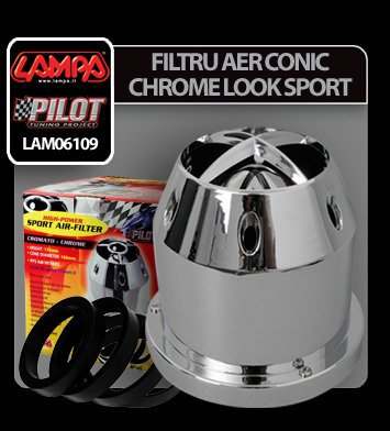 Filtru aer conic Chrome-Look Sport