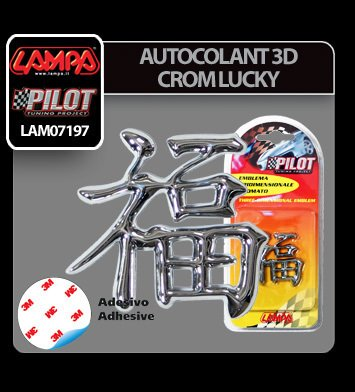 Autocolant 3D crom Lucky
