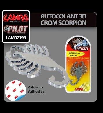 Autocolant 3D crom Scorpion