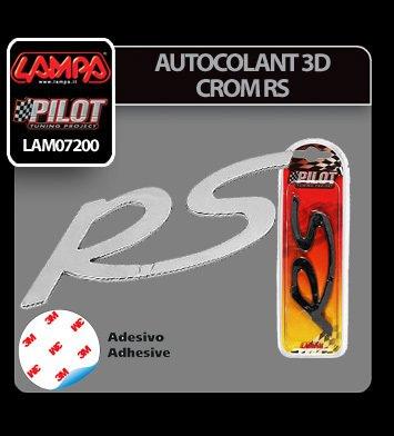 Autocolant 3D crom RS