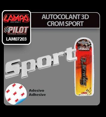 Autocolant 3D crom Sport