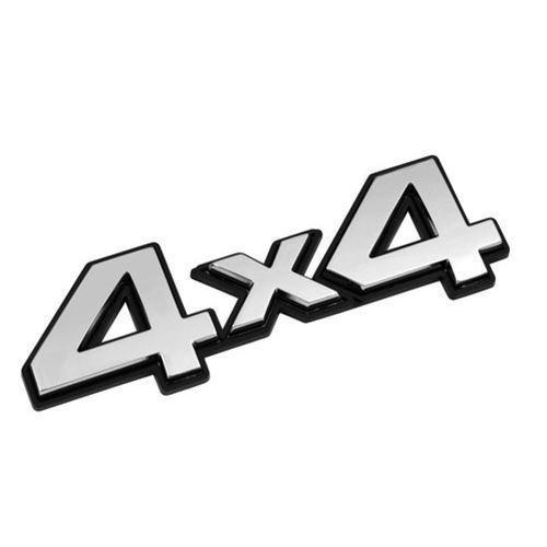 Autocolant 3D crom 4x4 1