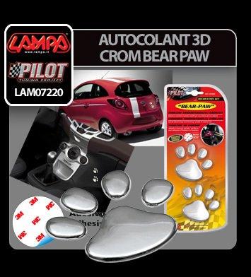 Autocolant 3D crom Bear paw