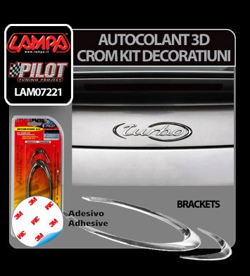 Autocolant 3D crom kit decoratiuni Brackets