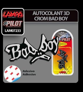 Autocolant 3D crom Bad Boy