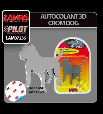 Autocolant 3D crom Dog