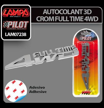 Autocolant 3D crom Full Time 4WD