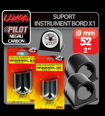 Suport instrument bord X1 (52 mm) - Negru