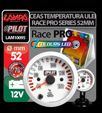 Ceas temperatura ulei 7 Colours Race Pro series 52 mm