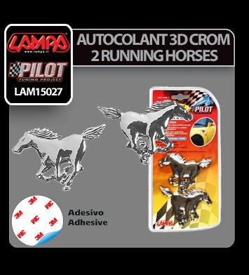 Autocolant 3D crom 2 Horses