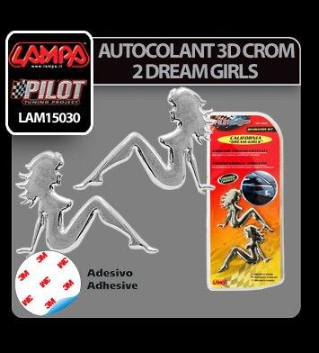 Autocolant 3D crom 2 Dream girls