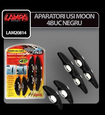 Aparatori usi Moon - 4 buc - Negru