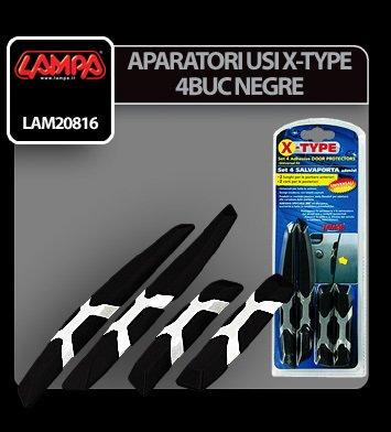 Aparatori usi X-Type - 4 buc - Negru