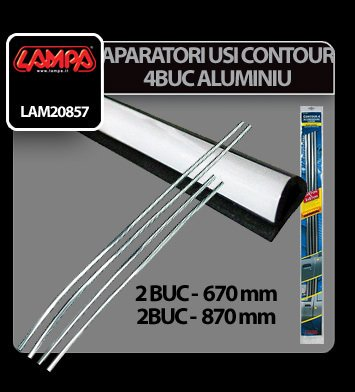 Aparatori usi Contour 4 - 4 buc - Aluminiu