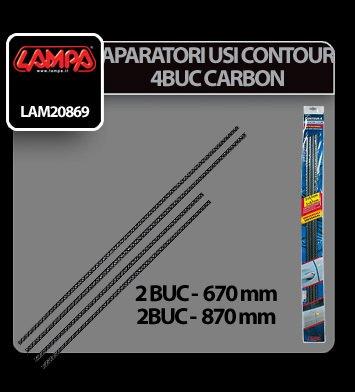 Aparatori usi Contour 4 - 4 buc - Carbon