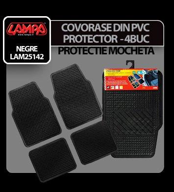 Covorase pvc universale protectie mocheta Protector 4buc - Negru