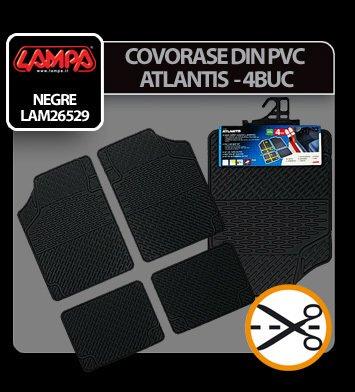 Covorase pvc universale Atlantis 4buc - Negru