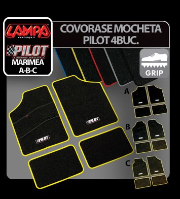 Covorase mocheta Pilot Lampa 4 buc - Marimea C - Albastru