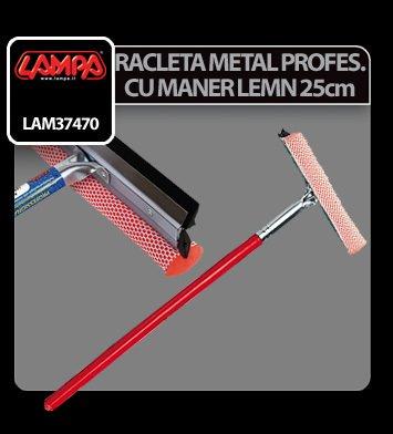 Racleta metal profesionala cu maner de lemn - 25 cm