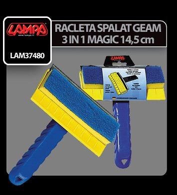 Racleta spalator geam 3 in 1 Magic 14,5 cm