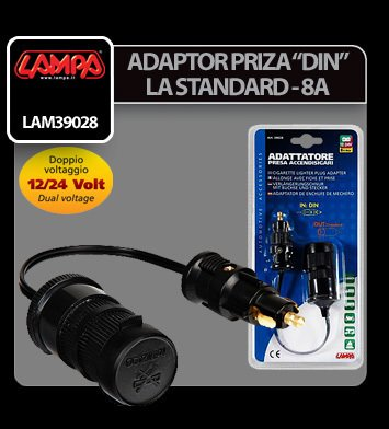 Adaptor priza bricheta DIN la Standard- 12/24V 8A