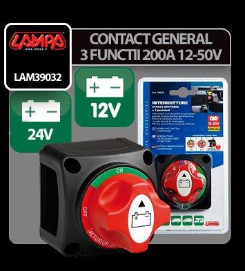 Contact general cu 3 functii 200A - 12/50V
