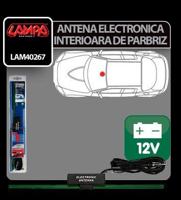 Antena electronica interioara de parbriz Lampa 12V