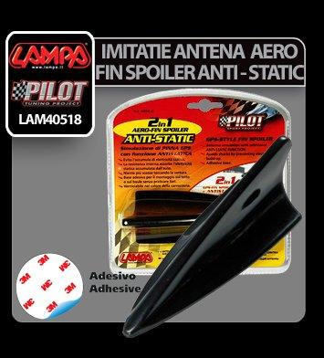Imitatie antena Aero-Fin Spoiler Anti-Static 2 in 1 - Negru