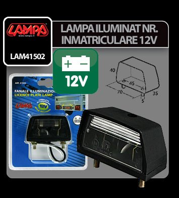 Lampa iluminat numar inmatriculare 12V Lampa