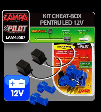 Kit anulare avertizare bec ars, LED - 12V ( Cheat-Box )