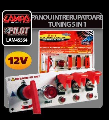 Panou intrerupatoare tuning 5 in 1 12V