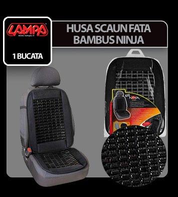 Husa scaun fata bambus Ninja 1buc - Negru