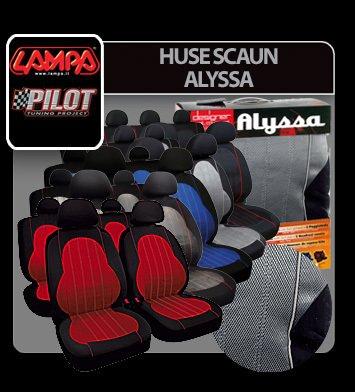 Huse scaun Alyssa 9buc - Antracit