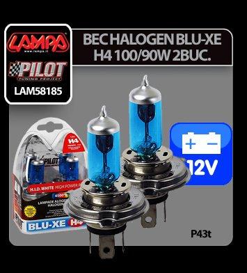 Bec halogen Blu-Xe  H4 100/90W P43t 12V 2buc