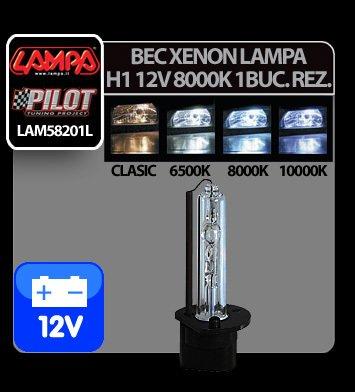 Bec Xenon H.I.D. Lampa H1 12V - 8000K - 1 buc