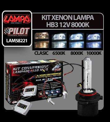 Kit Xenon H.I.D. Lampa HB3 12V - 8000K