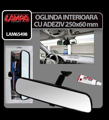 Oglinda interioara cu adeziv 250x60 mm